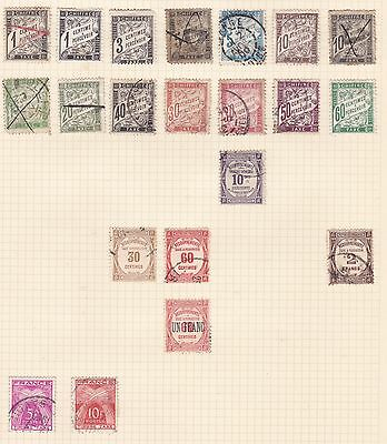 France    Page Of Postage Dues    Mh  & Used