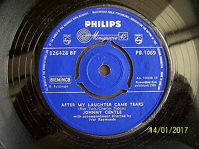 Johnny Gentle:      After My Laughter Came Tears     Pb1069       Con Ex