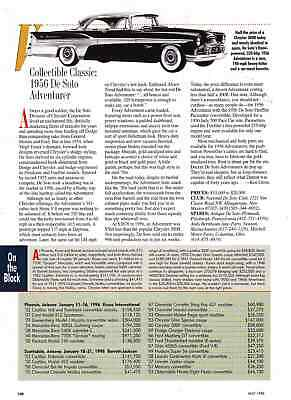 1956 Desoto Adventurer  ~  Great Collectable Classic Article / Ad