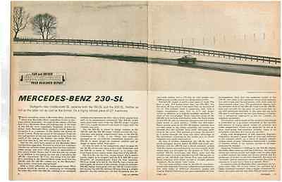 1963 Mercedes-Benz 230-Sl  ~  Great 7-Page Original Road Test / Article / Ad