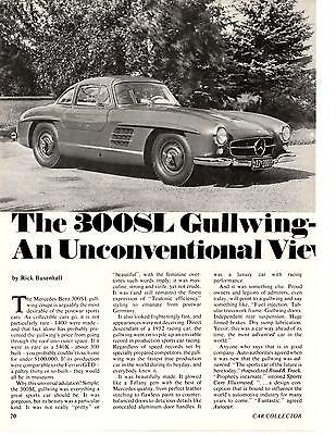1954-1957 Mercedes-Benz 300Sl Gullwing  ~  Nice 5-Page Article / Ad