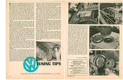 1967 Tuning Tips For The Vw  ~  Great Original 2-Page Article