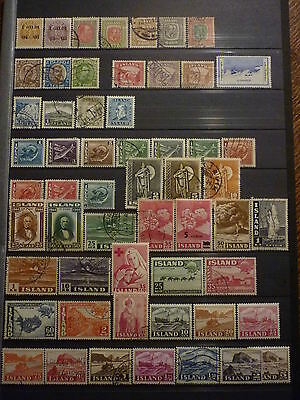 Islande Collection 424 Timbres Neufs Et Obliteres