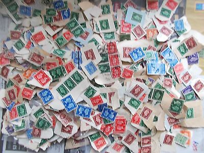 George V stamp mixture shoebox, on and off paper plus other bits well over 1000+