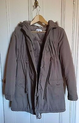 EUC Colline maternity/ nursing/ baby wearing thermal lined hood parka (size 12)