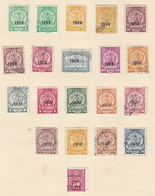Paraguay   1908 - 09    Page Of  08 - 09  O/prints  Mh & Used