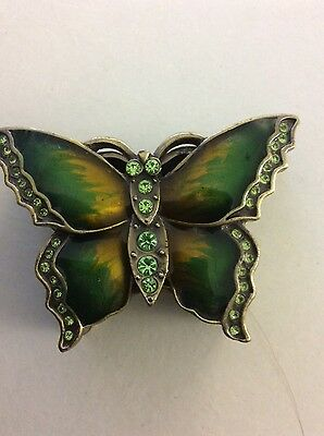 small green butterfly trinket dish