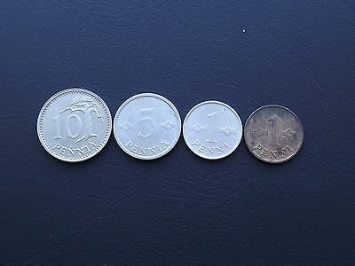 Finland Collection of 4 Coins 1968-88