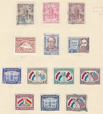 Paraguay 1939 - 45        2Pages  Various Values  Part Sets  Airs  Mh & Used