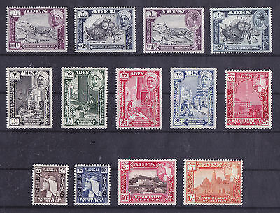 ADEN 1955-1963 MLH/MH Lot of 13 Stamps Unchecked
