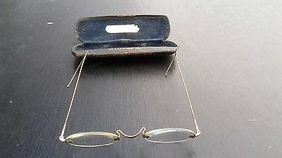Antique spectacles in case
