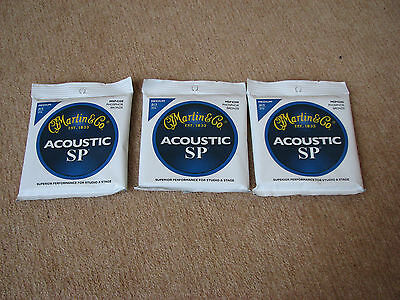 3 x sets Martin Phospher Bronze acoustic guitar strings (13 - 56)