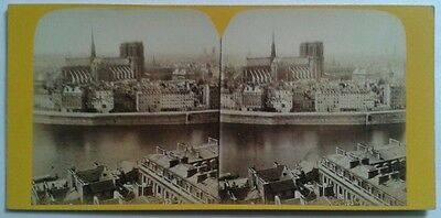 Photo Stereo Stereoscopique Stereoview Panorama Ville Paris Napoleon Iii France