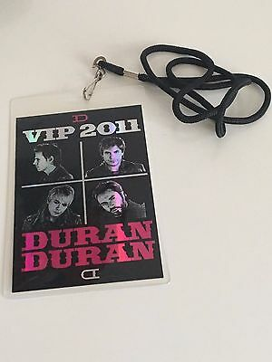 Duran Duran All You Need Is Now 2011 / 2012 Vip Laminate Pass