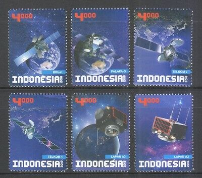 Indonesia 2016 Satellites Comp. Set Of 6 Stamps In Mint Mnh Unused Condition