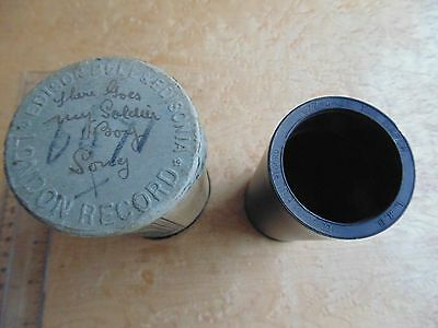 Antique Phonograph Cylinder In Case.