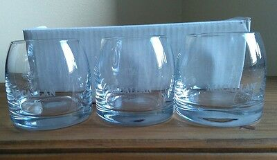 macallan whisky glasses set of six brand new and boxed