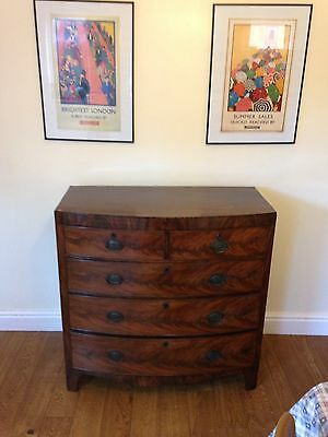 Regency Mahogany Bow Front Chest of Drawers, circa 1820