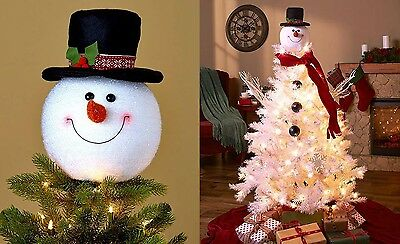 Snowman Decoration Christmas Tree Topper Holiday Decor Xmas Party Ornament New