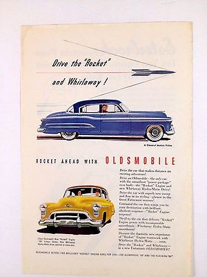 1950 Oldsmobile 98 Original Print Ad Car Automobile