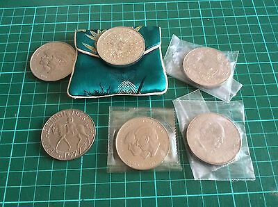 Nice Collection of 6 British Crown coins (2)