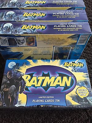 Sealed Limited Edition Tin BATMAN Playing Cards.  Only 5000 made