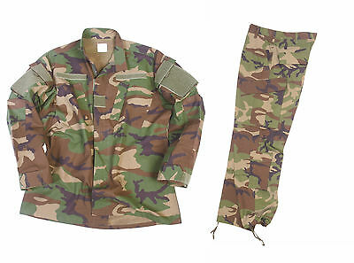 Us Anzug Feldjacke + Feldhose + 2 Nametapes Ocp R/s Woodland Airsoft Paintbal