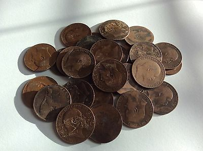 Collection Edward VII Penny Coins