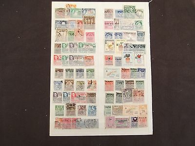 Worldwide - Various Overprinted Mounted Mint and Used Stamps (10)