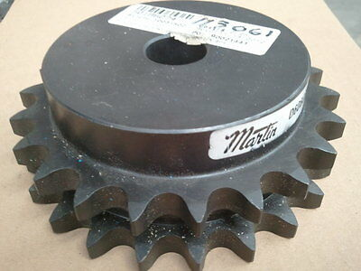 """Double Sprocket #40 Chain 16 Tooth   5/8"""" Stock  Bore ( No Key Way)"""