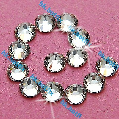 288 Crystal Clear 4mm ss16 iron on Hot fix Rhinestones Gems Beads diamante 16ss