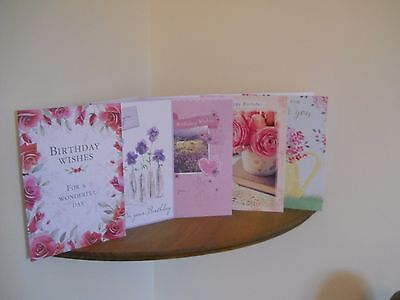 1 Pack Of 5  Brand New Rustcraft Female Birthday Cards/2