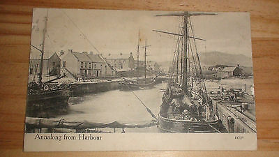 Old Postcard  Annalong from Harbour, Co.Down, 1908