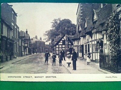 Market Drayton, Shropshire Street Post Card Arnold Photo
