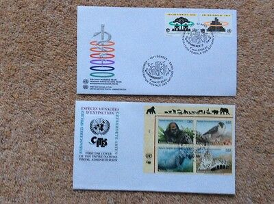 (R)     Two First Day Covers of United Nations Postal Administration 1993.