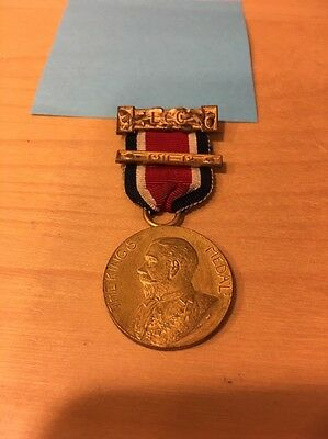 London County Council The King's Medal School Attendance Medal 1912