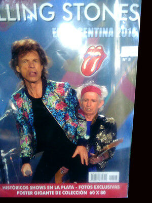 ROLLING STONES live in Argentina 2016 Magazine/poster