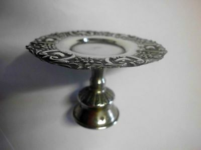 Mini-Fussschale-833 Silber-Puppenstube / lovely small plate with foot -Silver