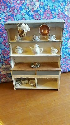 Farmhouse Dressing Table With Accessories Drawers Open!