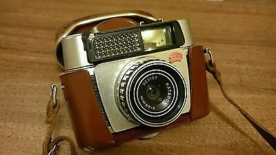 Vintage Retro Braun Paxette 'Electromatic I' 35mm film camera +orig leather case