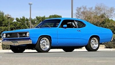 1972 Plymouth Duster LEATHER SEATS''POWER'' 1972 ''' HEMI ''' DUSTER ''PRO TOURING '' 5 SP ,A/C,LEATHER,STOCK LOOKIN SLEEPER