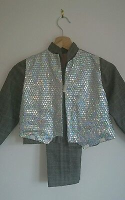 Boys 2 Piece Suit Ice Skating Stage Wear