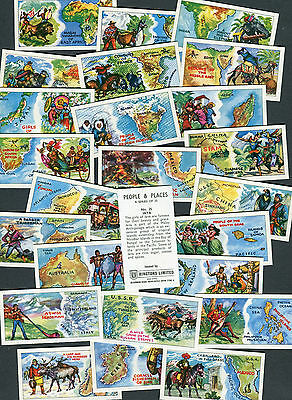 "Ringtons Tea Set Of 25 1964 ""people & Places"" Tea Cards"