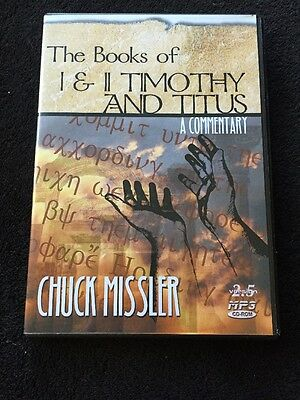 Chuck Missler Bible Commentary The Books of Timothy and Titus 1 & 2 Audio CD MP3