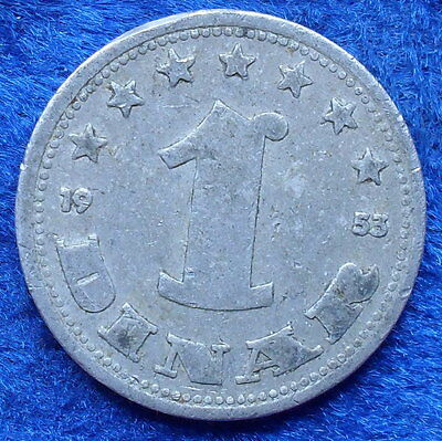 YUGOSLAVIA -1 dinar 1953 KM# 30 Federal Peoples Rep. (1946-63) - Edelweiss Coins