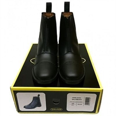 Front Zip Horse Riding Jodphur Boots Leather