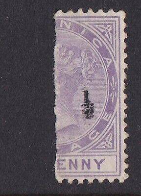 """DOMINICA 1882 """"½"""" on QV BISECT 1d SG cat £225 SCARCE!"""