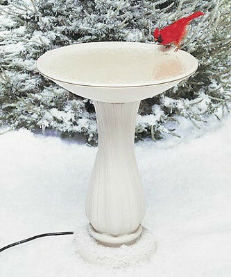 Allied Precision Heated  Bath With Pedestal - Outdoor Decor For Songbird Lovers!