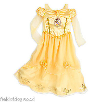 NWT Disney Store Princess Belle Deluxe Nightgown Costume Beauty and The Beast