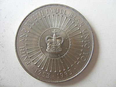 5 POUNDS 1993 40th anniversary of coronation of Queen Elizabeth II  KM# 965